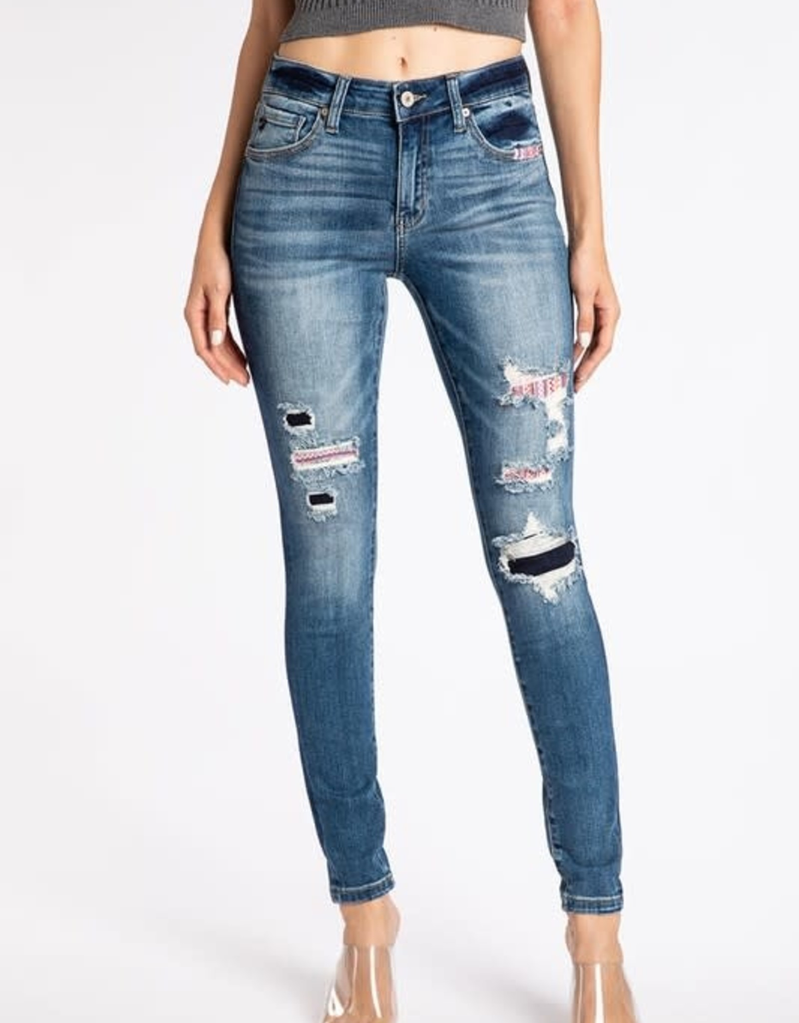 Patched KanCan Jeans