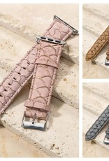 Genuine Leather Textured Apple Watch Band
