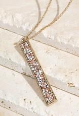 Gold Bar Pendant Necklace