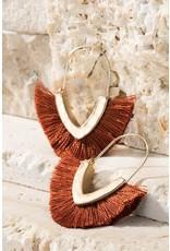 V-Shape Tassel Earrings