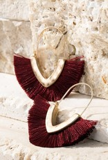 V-Shape Tassel Earrings