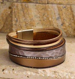 Multi-Strand Faux Leather Bracelet