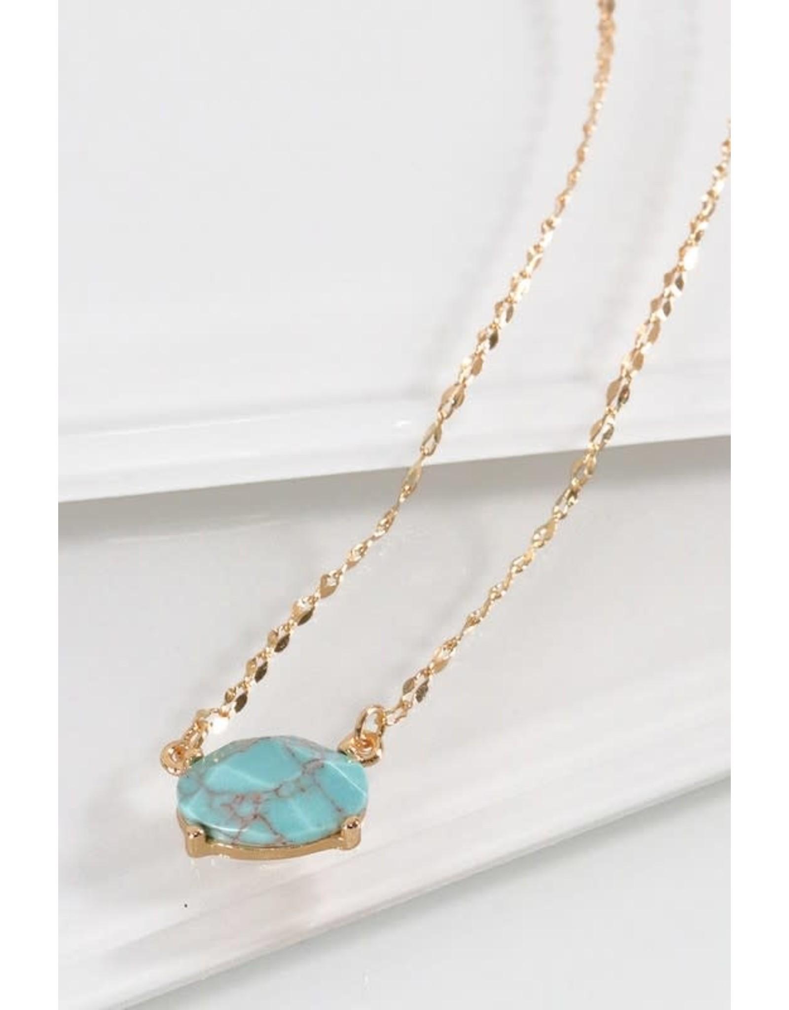 Oval Stone Necklace