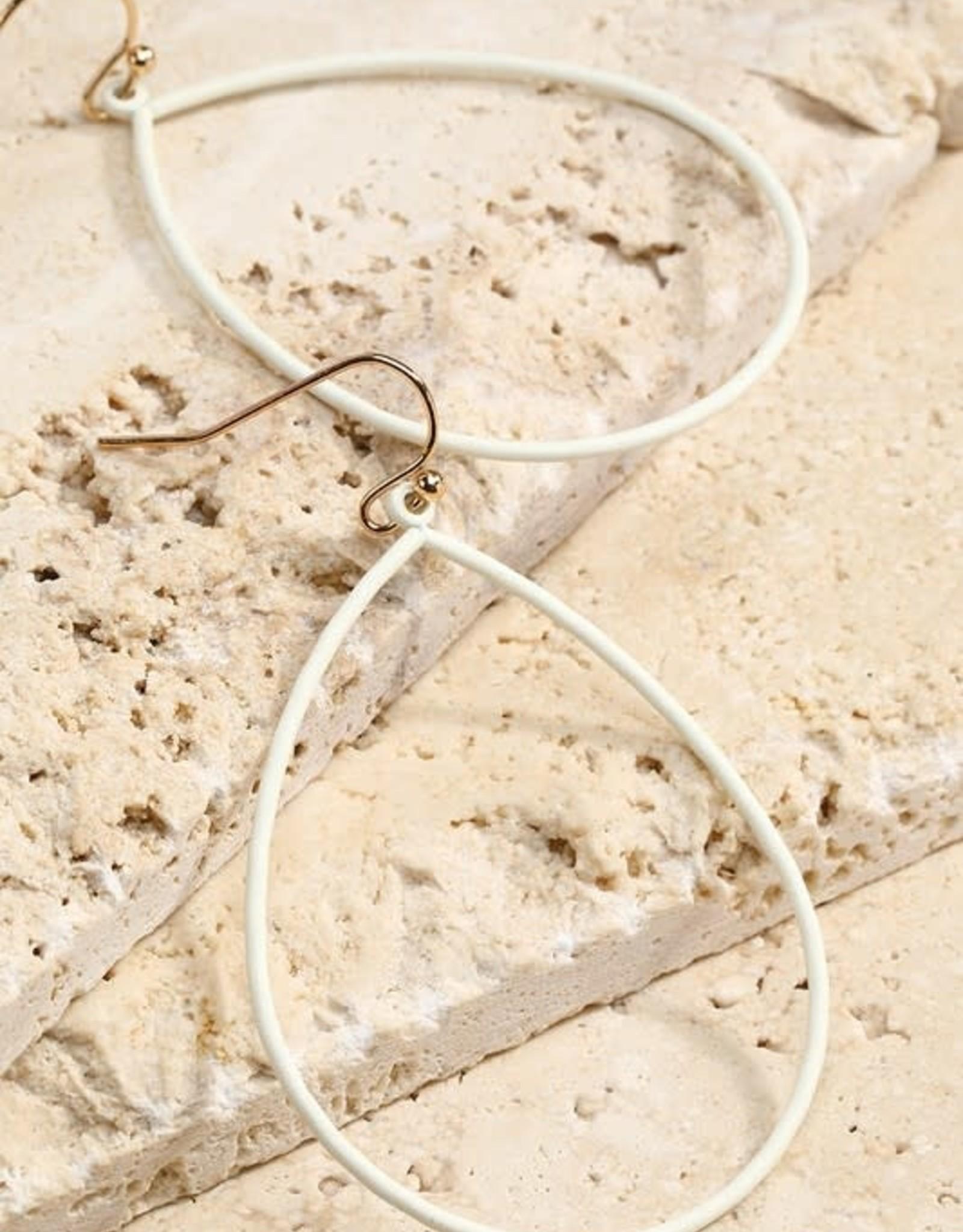 Color Coated Tear Drop Earrings