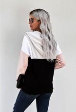 Colorblock Quarter Zip Pullover Hoodie
