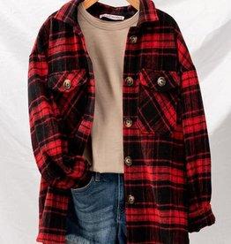 Plaid Oversized Jacket