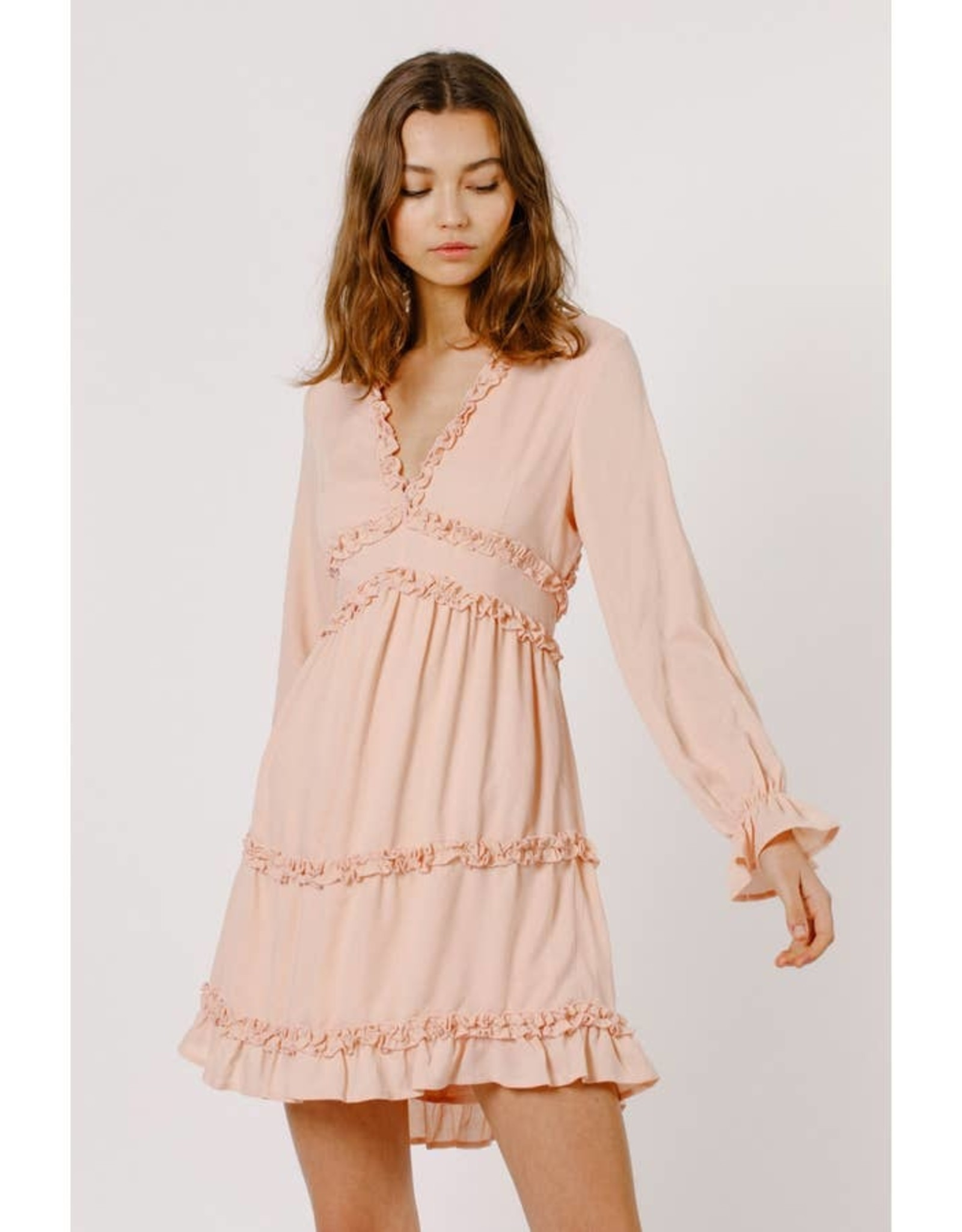 Frilly Ruffle Mini Dress