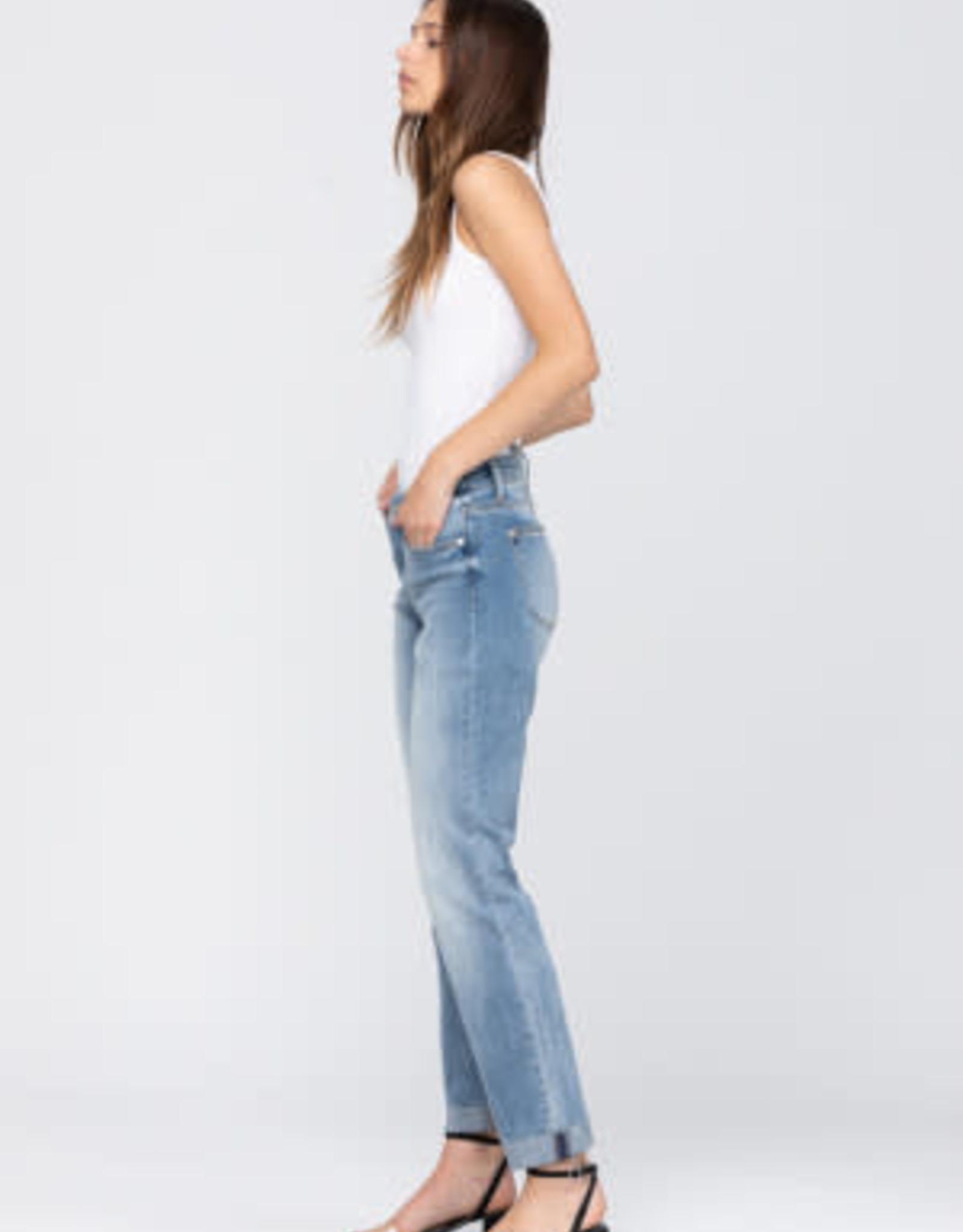 Judy Blue Mid-Rise Cuffed Boyfriend Jeans
