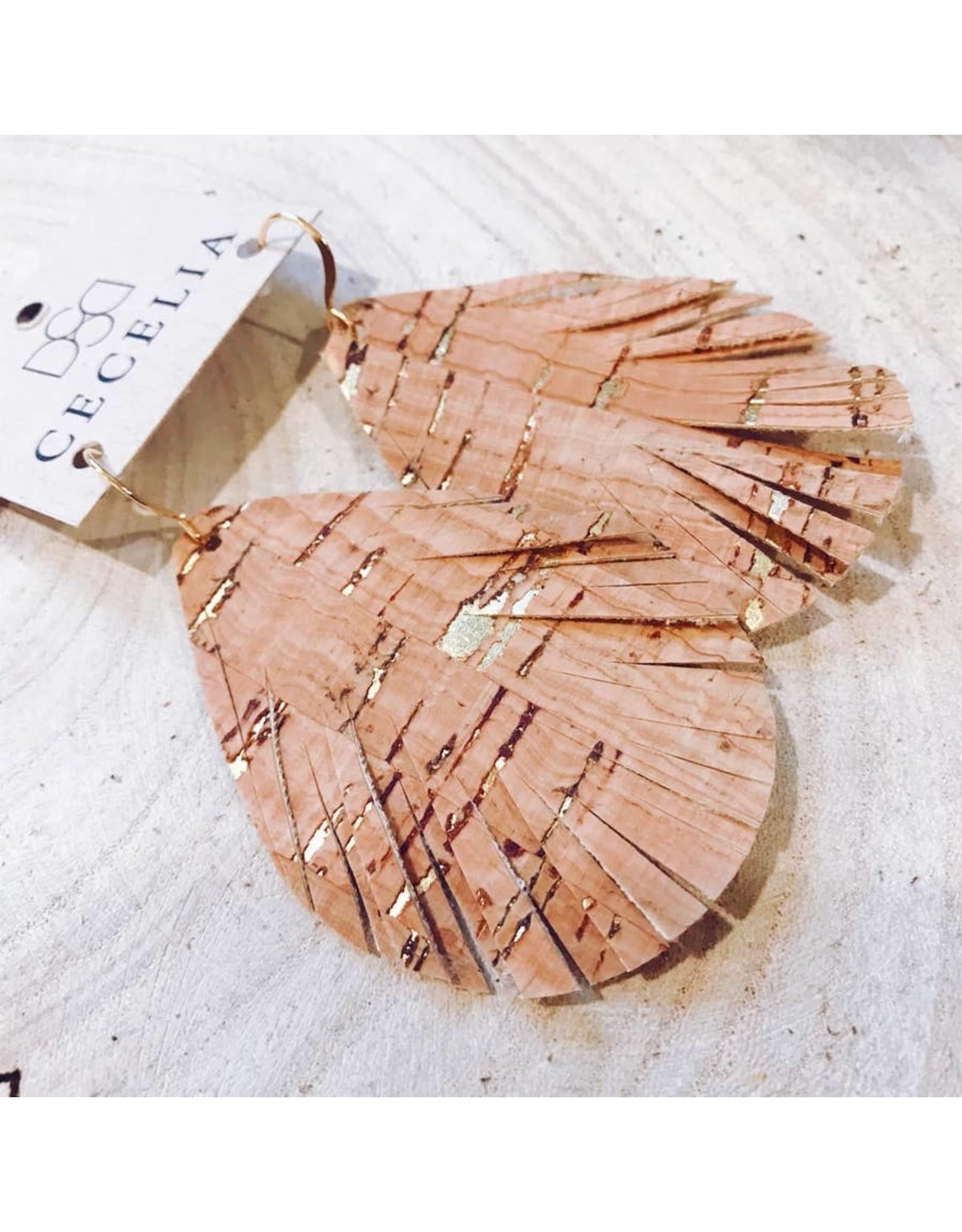 Cecelia Designs Cut Teardrop Leather Earrings