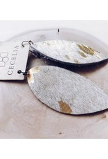 Cecelia Designs Feather Leather Earrings