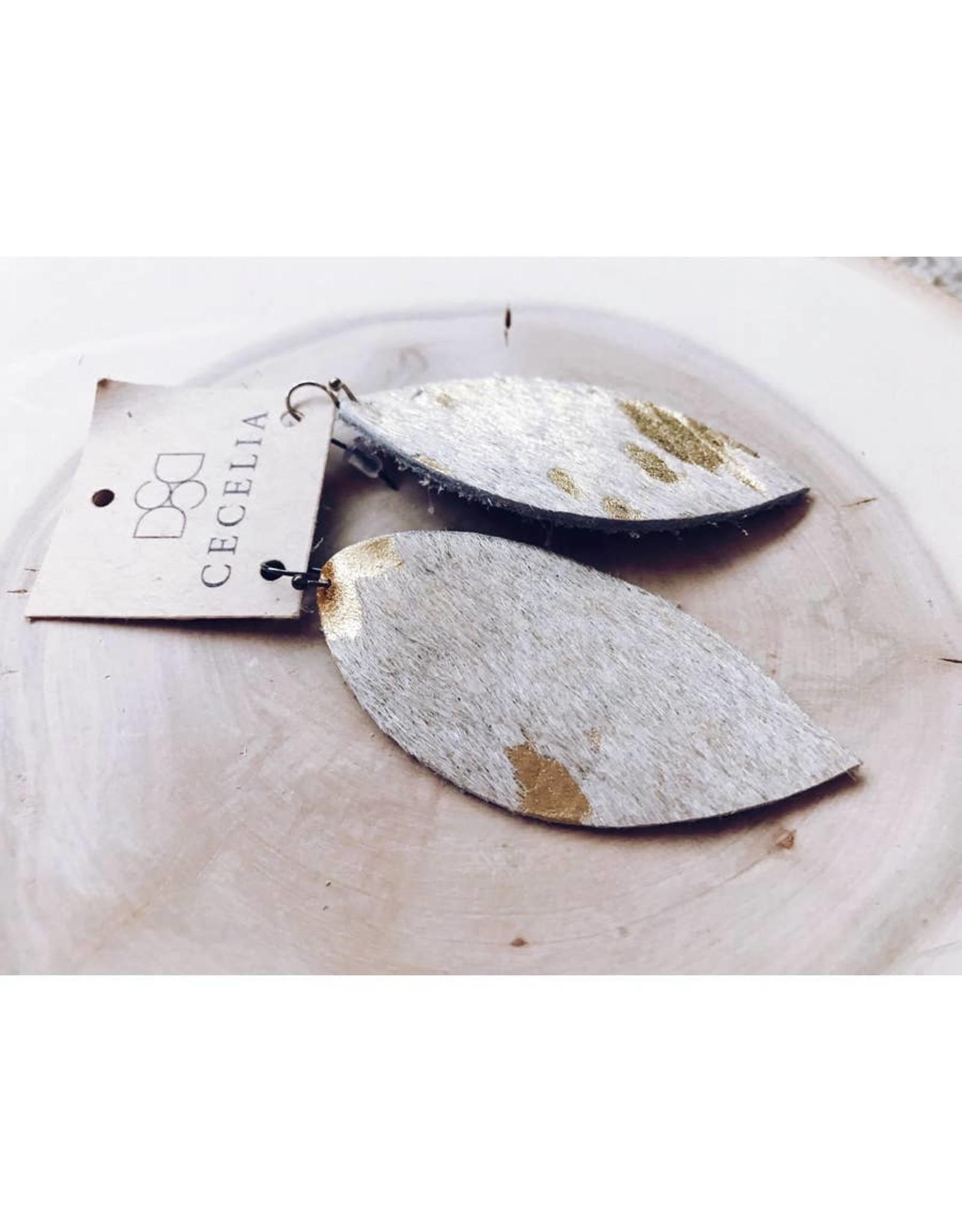 Cecelia Designs Feather Leather Earrings
