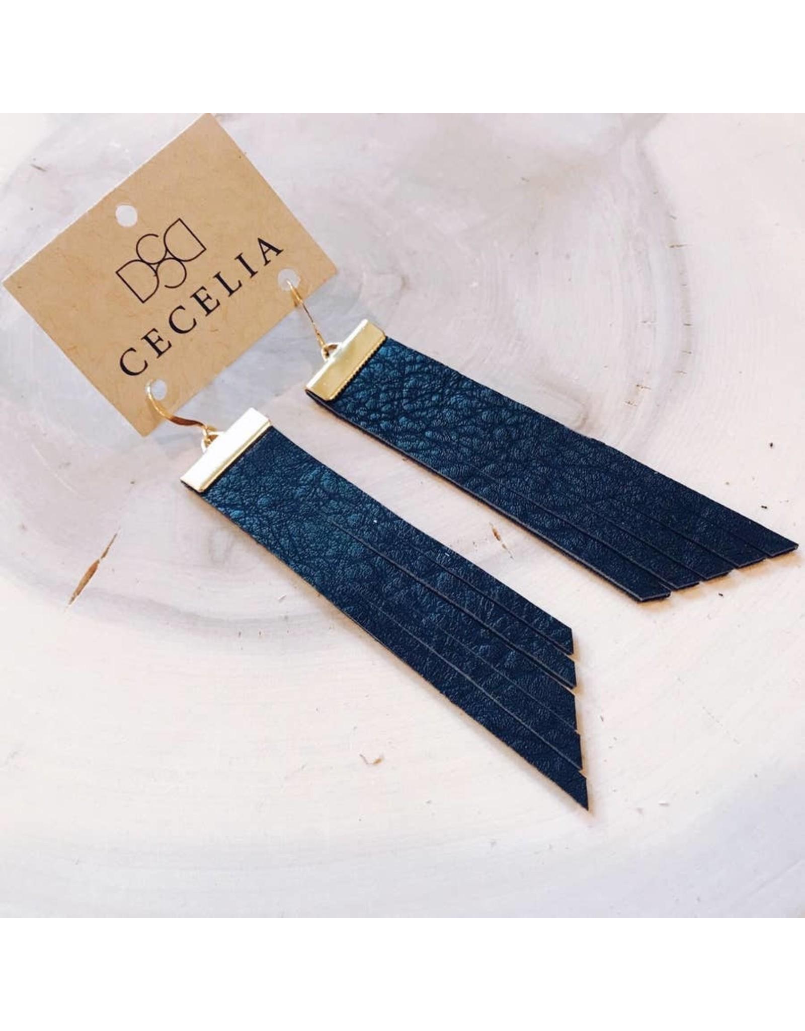 Cecelia Design Bar Tassel Earrings