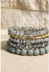Four Layered Stretch Bracelet Set