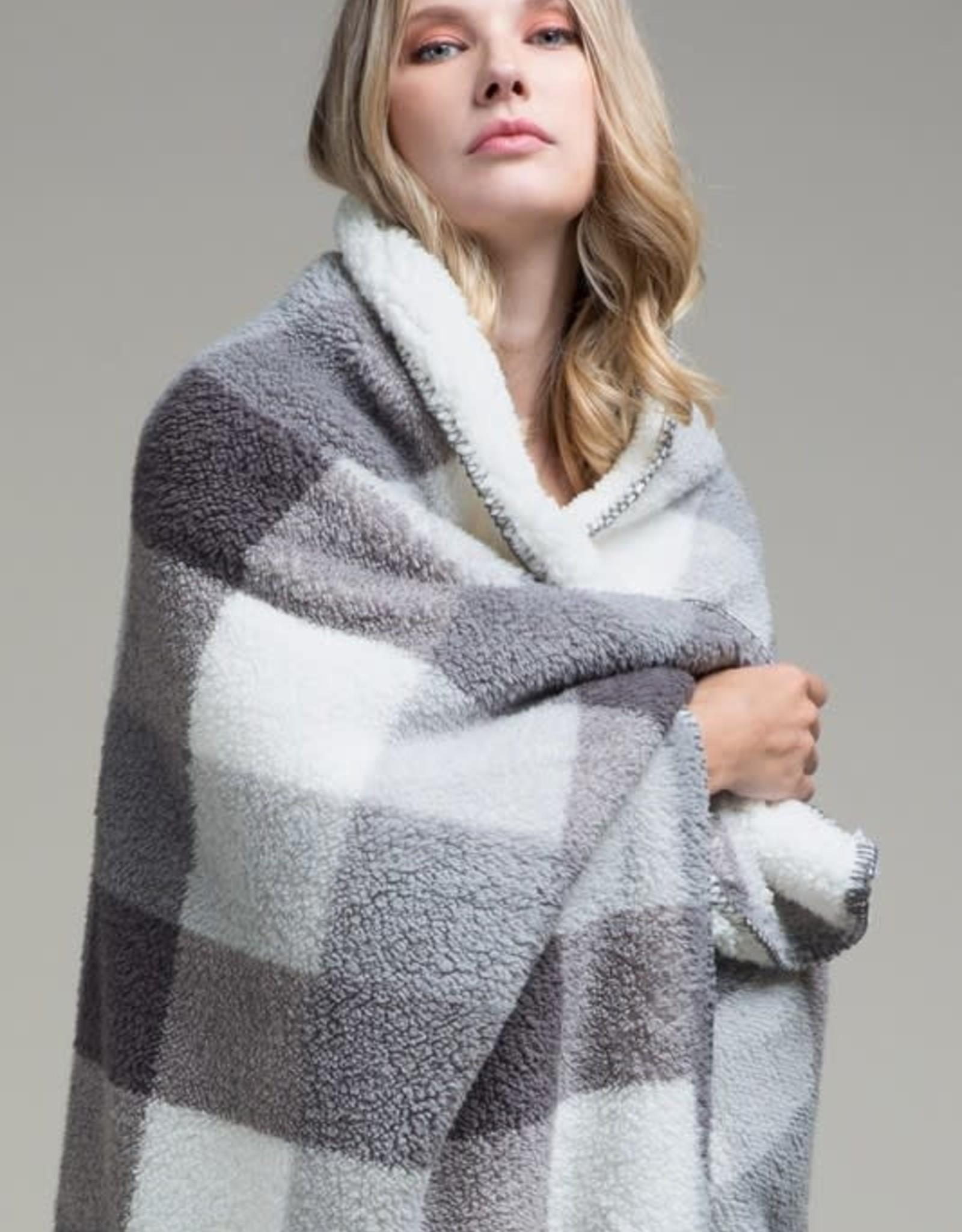 Plaid Sherpa Throw Blanket