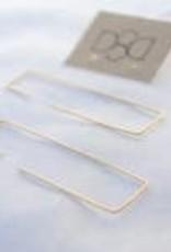 12k Gold Filled Geometric Hoop Earrings