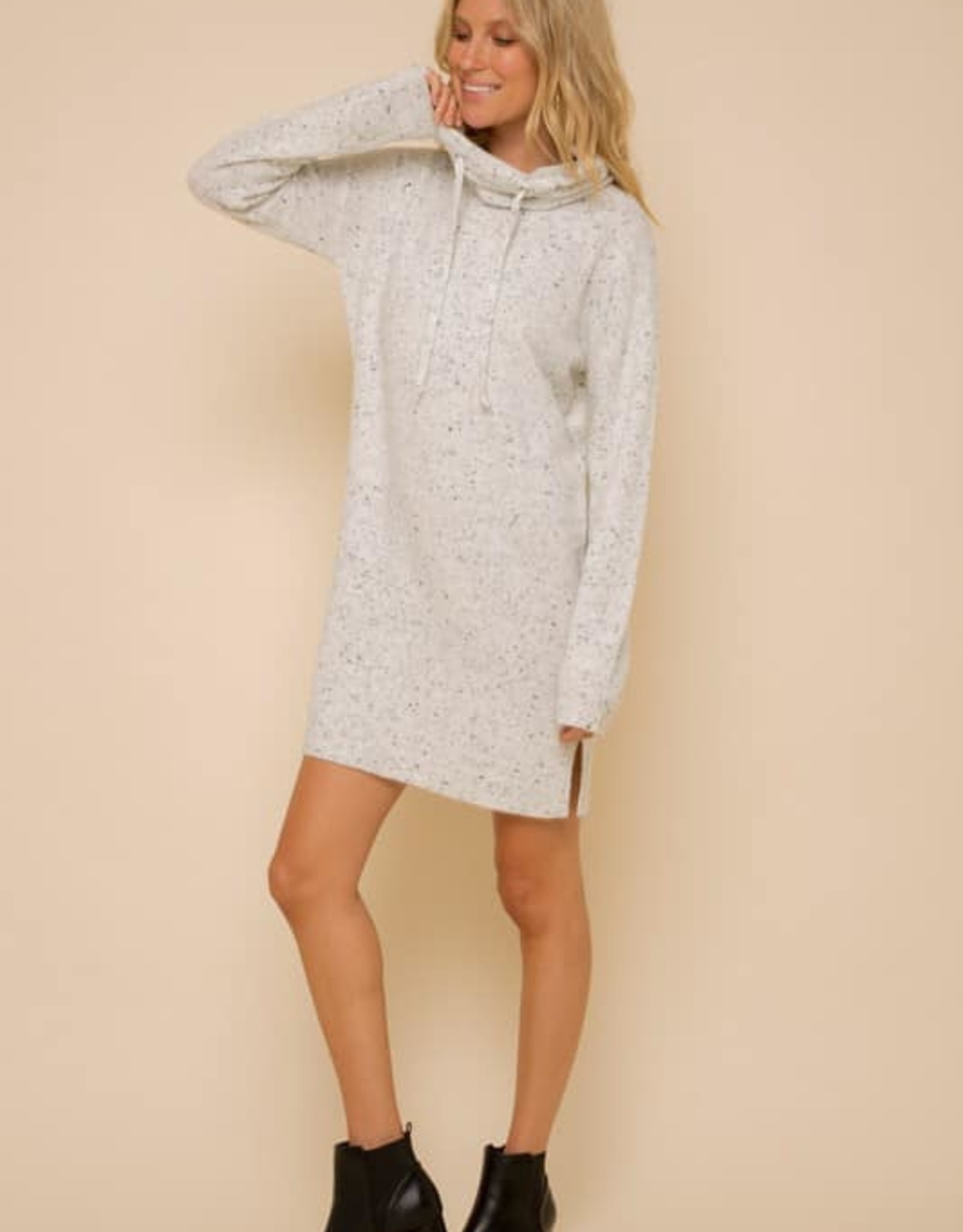 High Neck Sweater Dress.