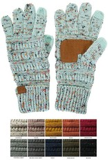 CC Cable Knit Confetti Smart Tip Gloves