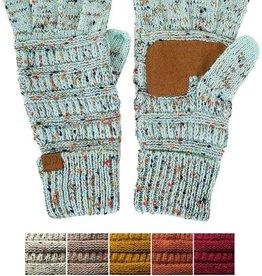 CC Cable Knit Confetti Smart Tip Gloves