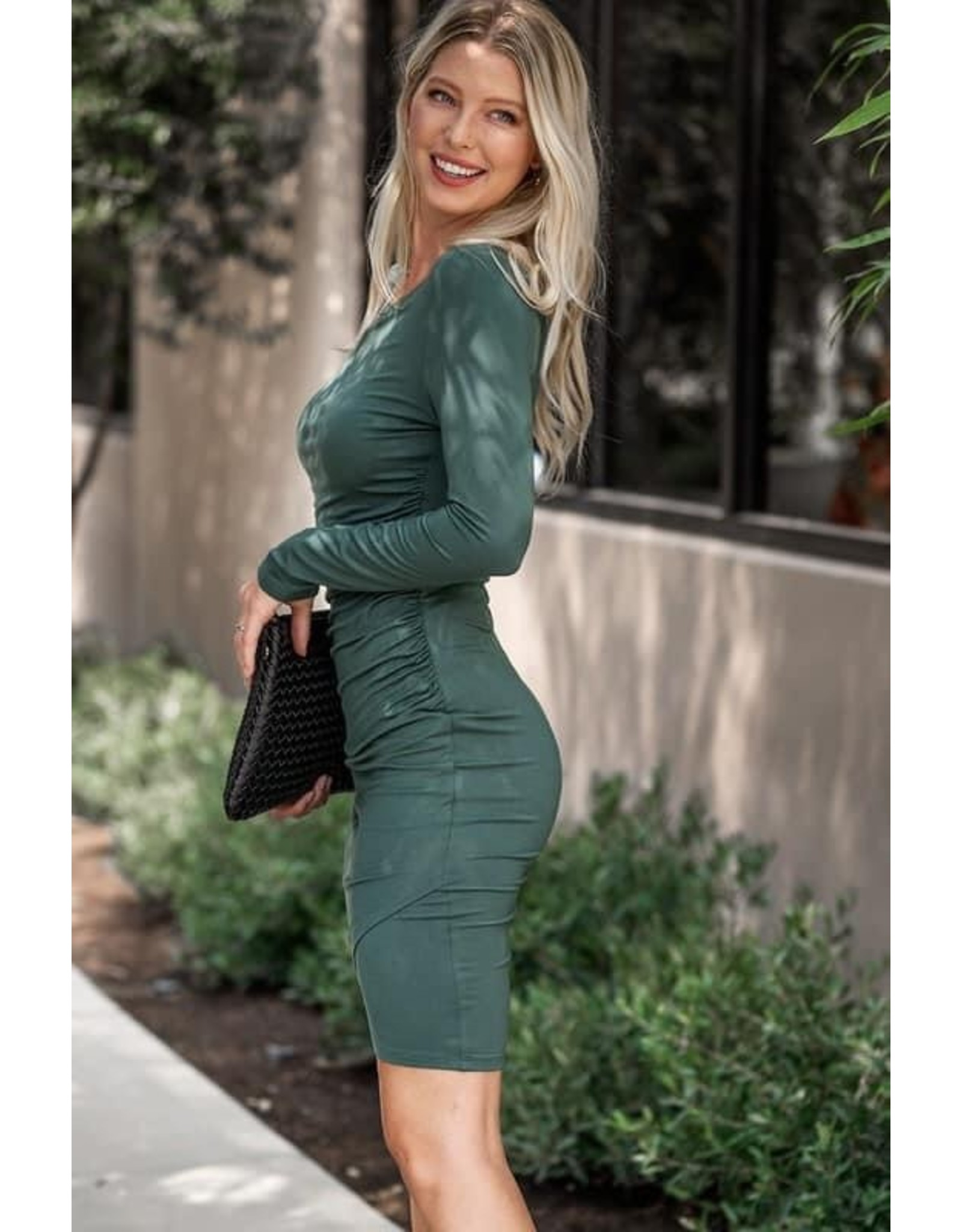 Ruched Body Con Dress