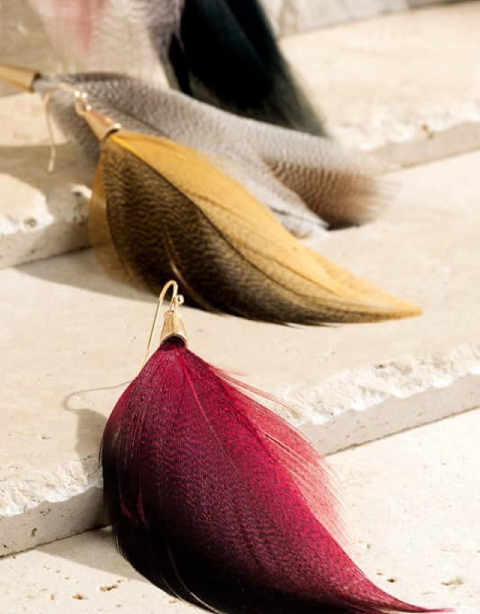 Light Feather Earrings