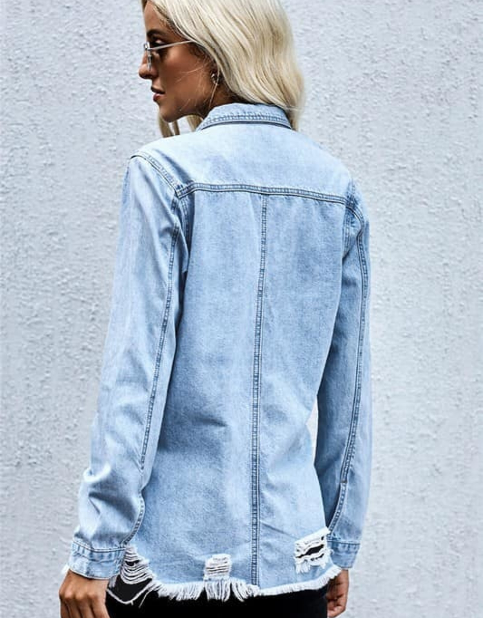 Ripped Denim Top
