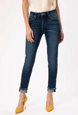 KanCan Mid-Rise Hem Detail Jeans