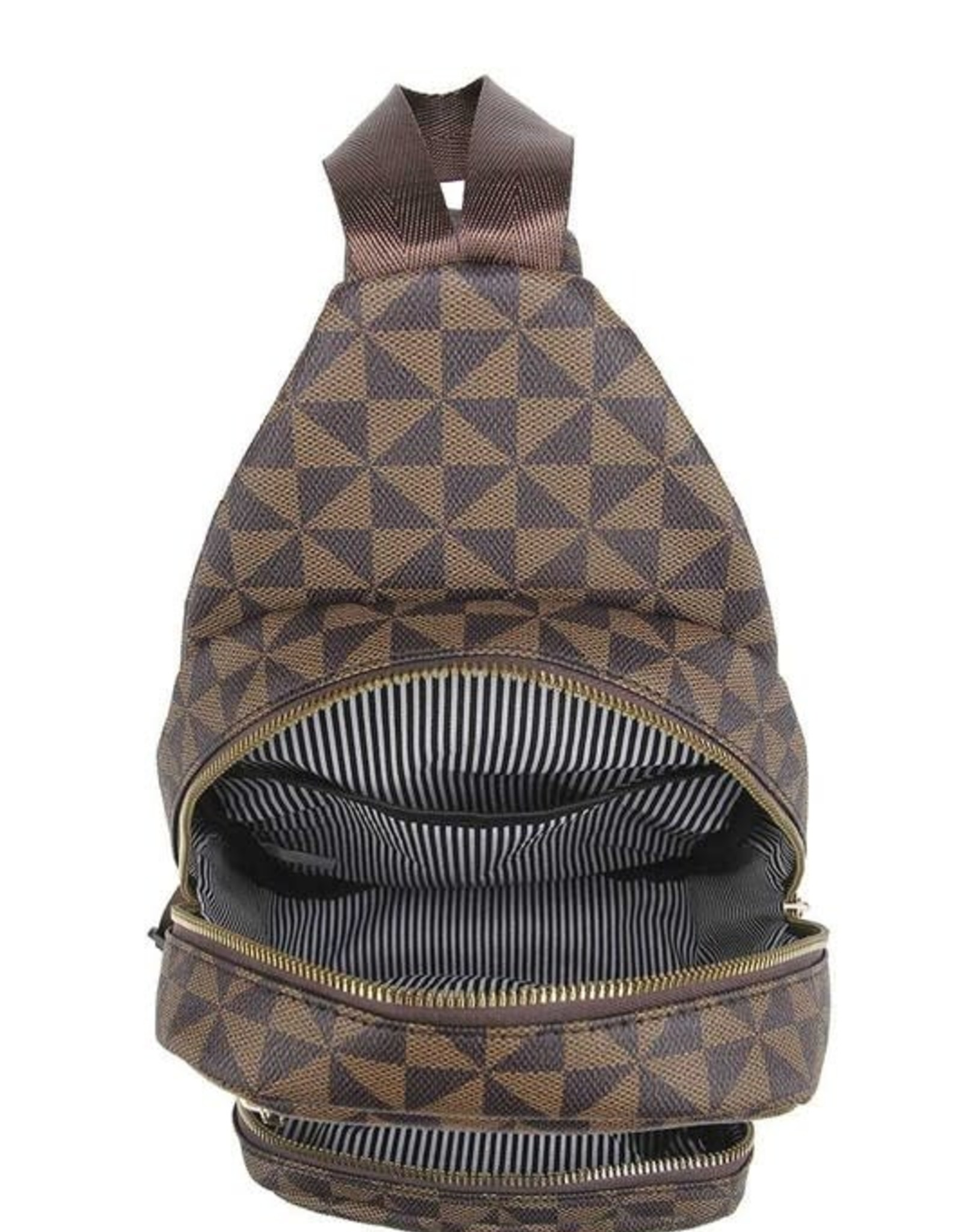 Monogram One Shoulder Backpack