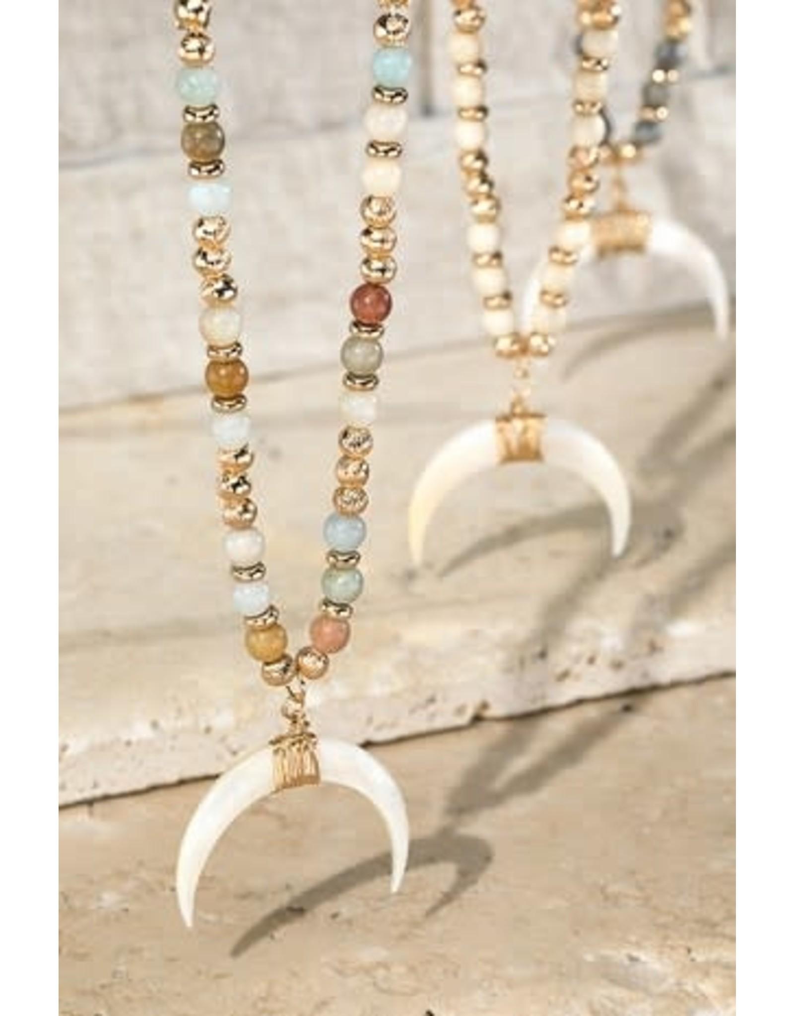 Crescent Horn Pendant Necklace
