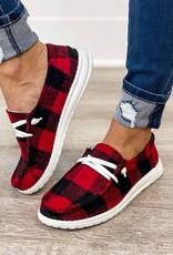 Buffalo Plaid Boat Shoes