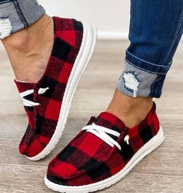 Buffalo Plaid Boat Shoe