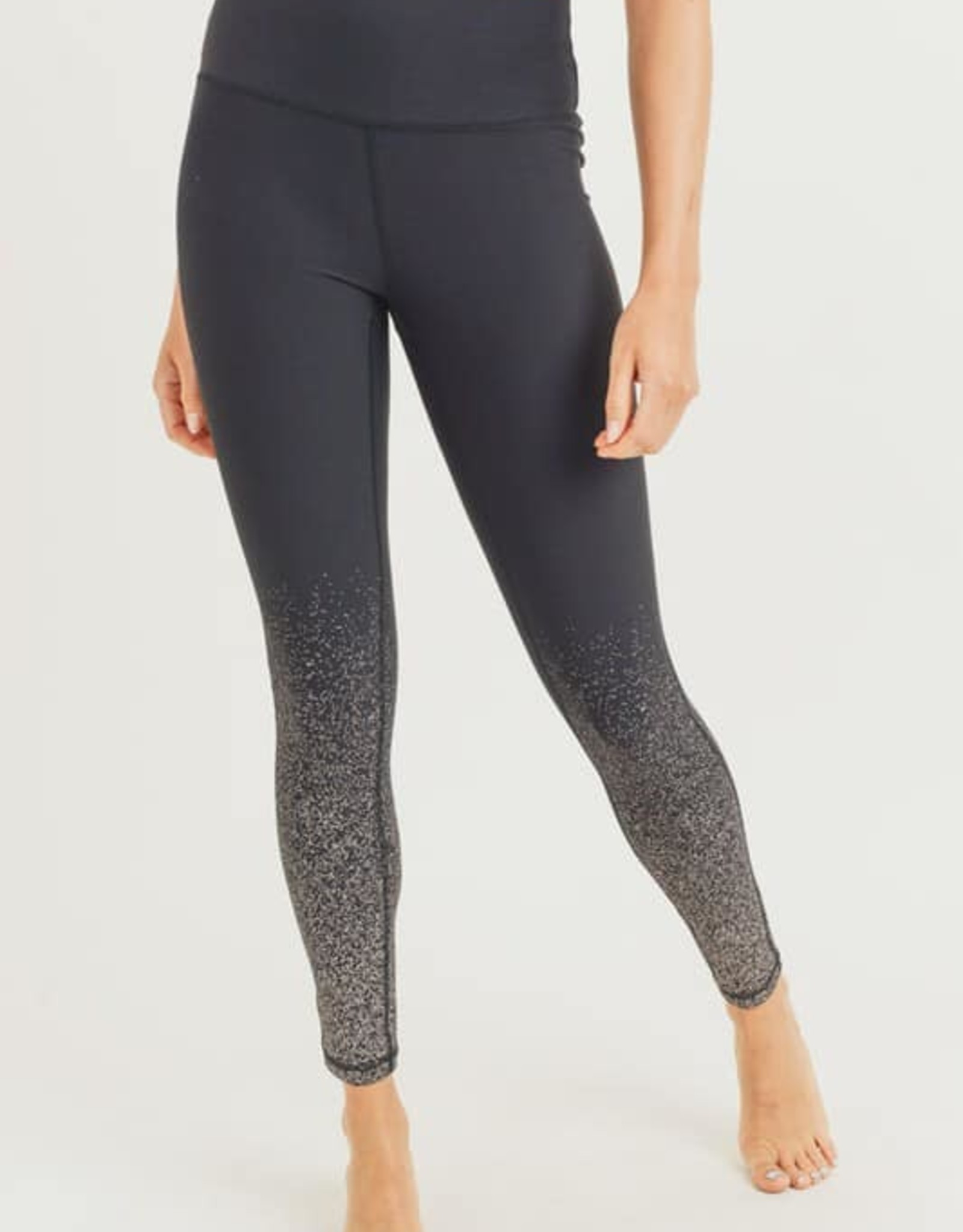 Metallic Raindrop Foil Leggings