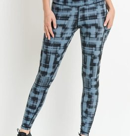 Highwaist Dotted Plaid Leggings