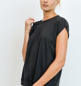 Webbed Cut-Out Back Athleisure Top