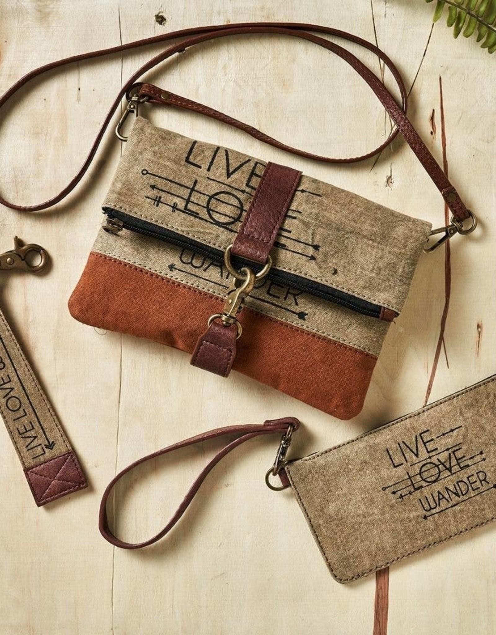 Live Love Wander Credit Card Wristlet