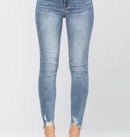Judy Blue Destroyed Hem Jeans
