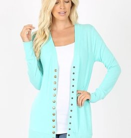 Snap Button Cardigan w/Pockets