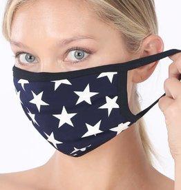 Star Print Cotton Mask