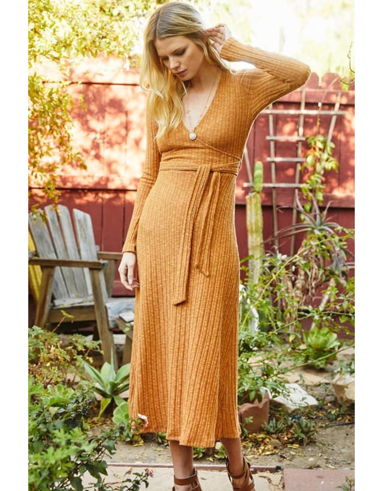 Wrap Midi Dress