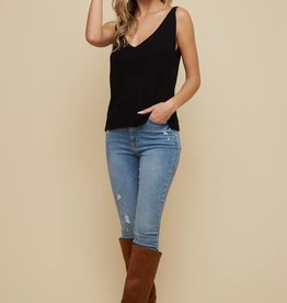 Double V-Neck Sweater Tank
