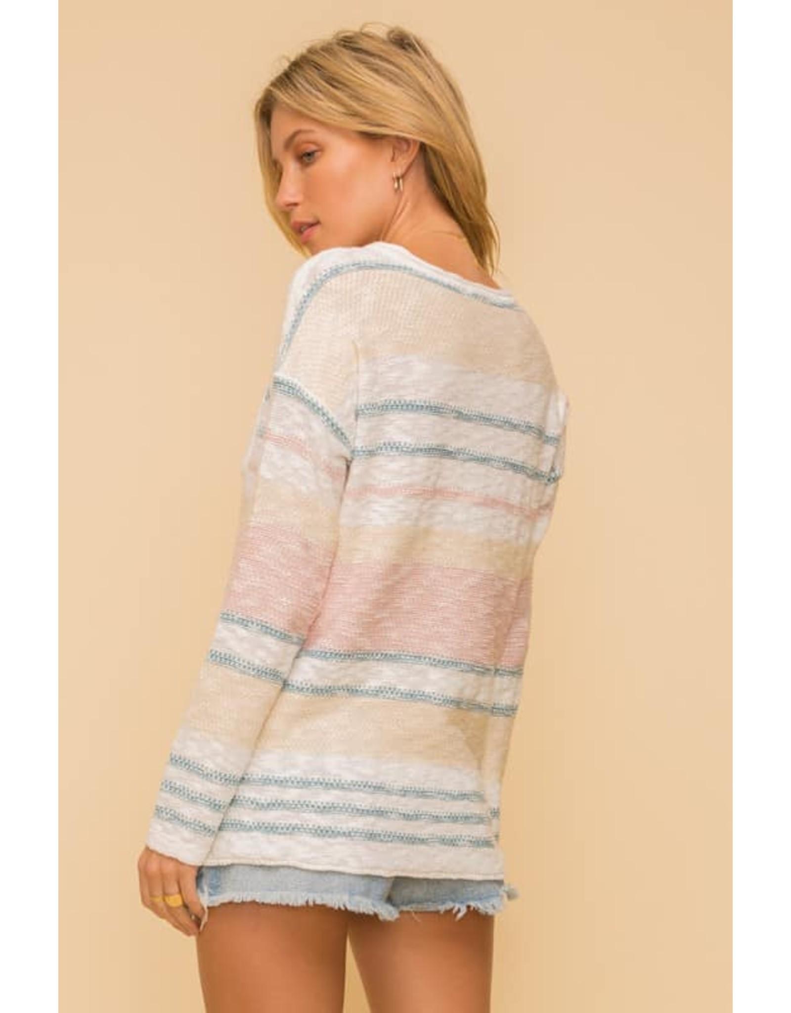 Striped Slub Sweater