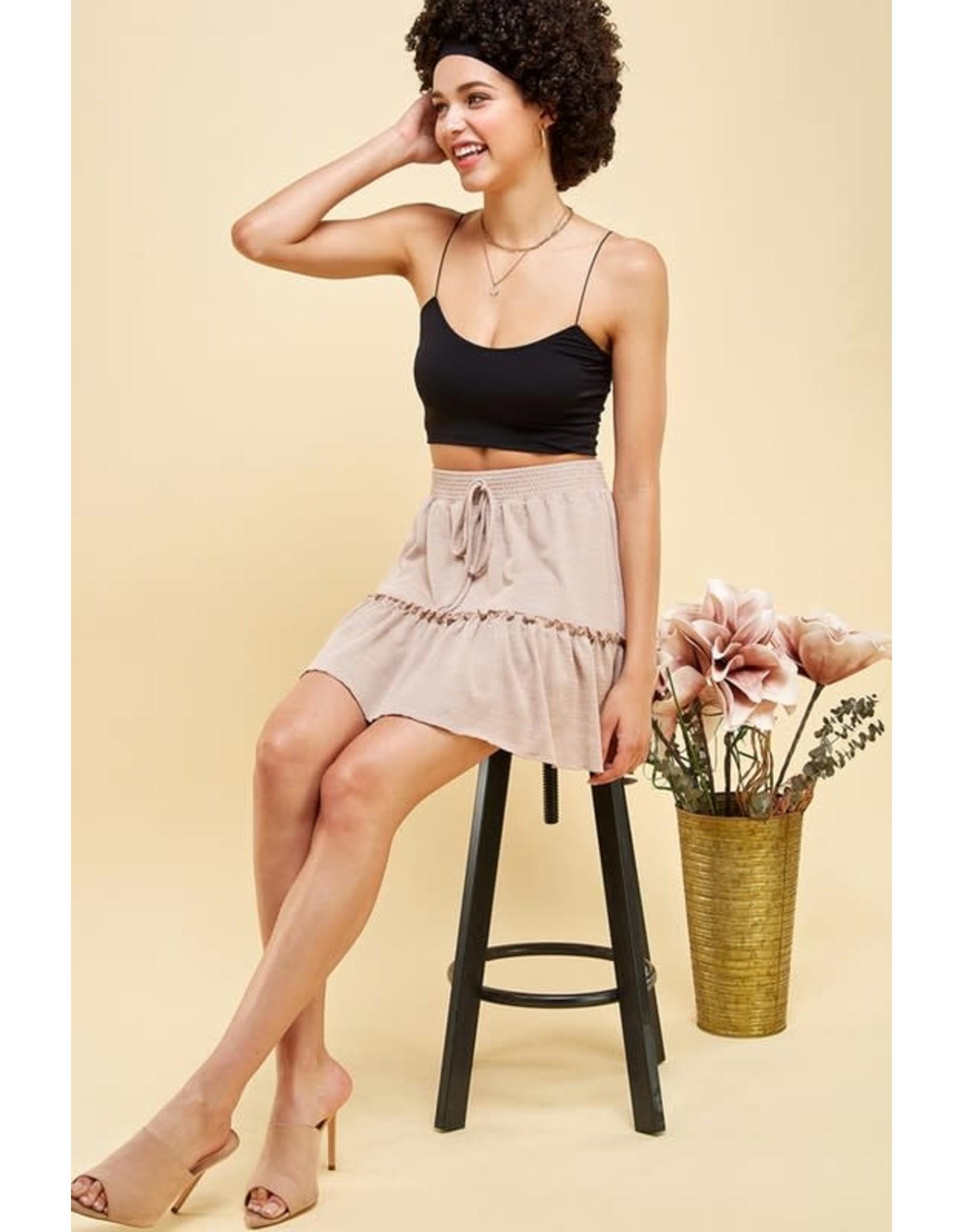 Tiered Casual Mini Skirt