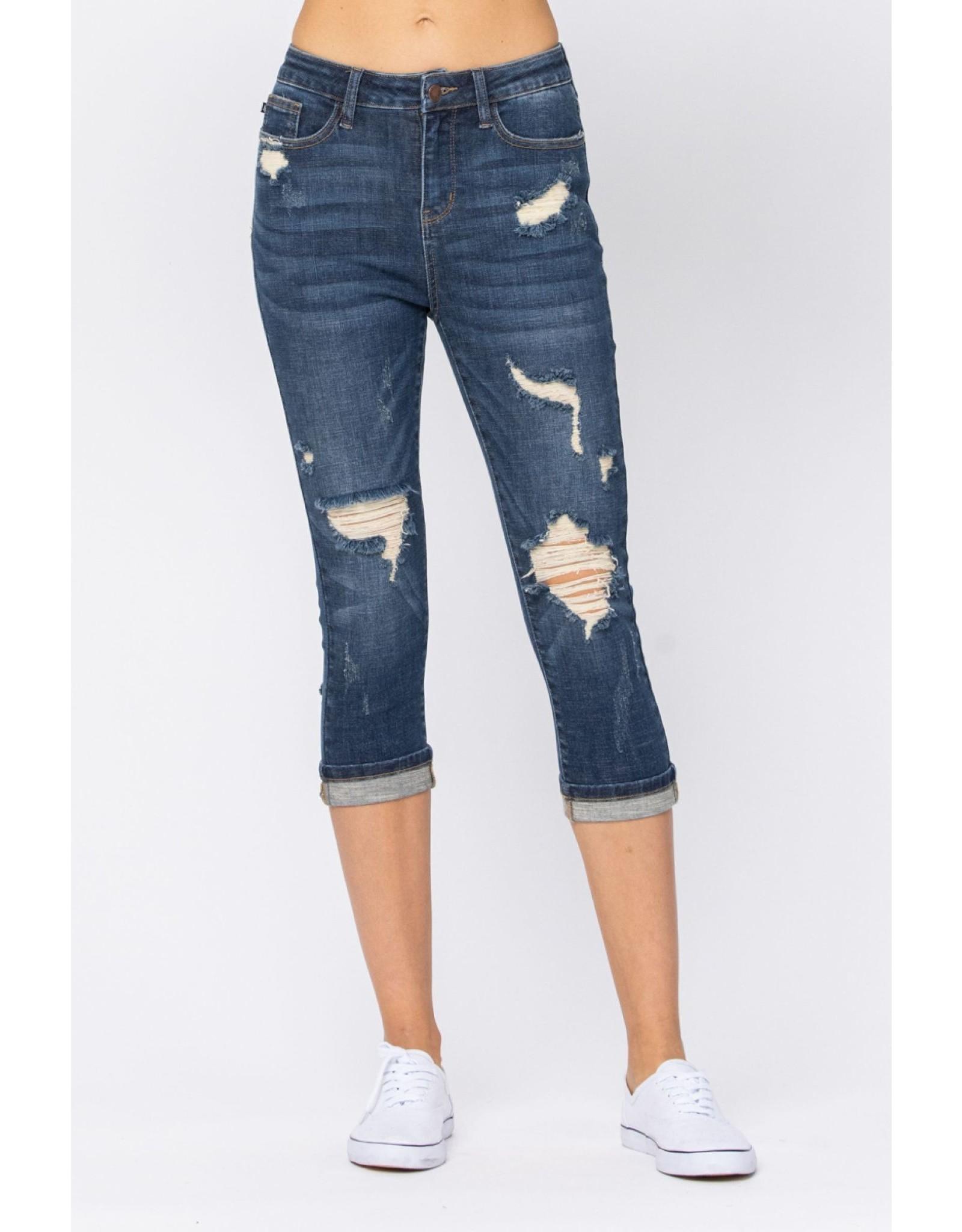Judy Blue Distressed Capri Jeans