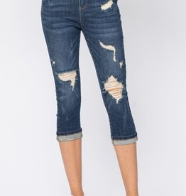 Judy Blue Distressed Capri Jeans