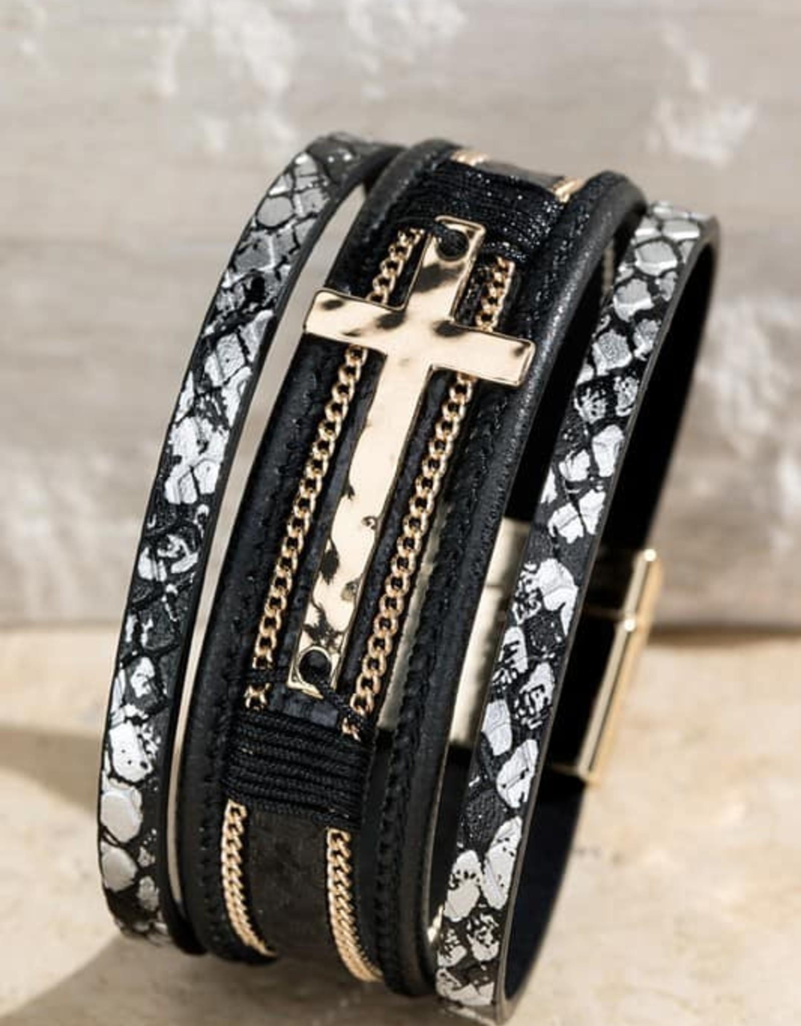 Multi-Stand Cross Bracelet