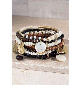 Multi Layered Mixed Beads Bracelet