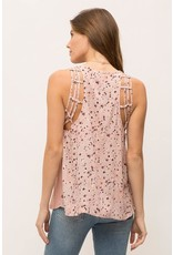 Cupro Modal Printed Back Top