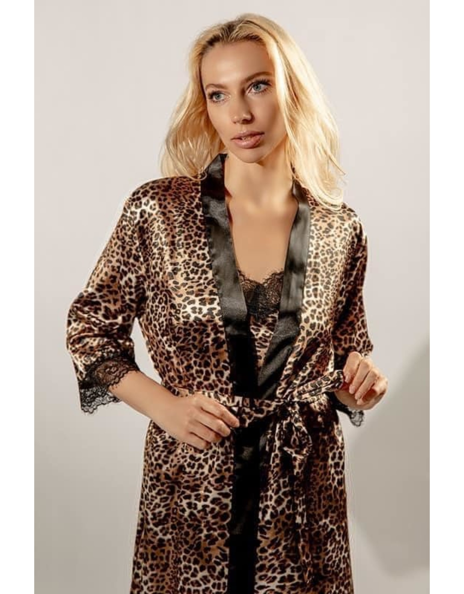 Leopard Robe & Pajama Set