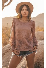 Burned Out Lace Top Large