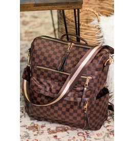 Checkerboard Convertible Guitar Strap Backpack Handbag