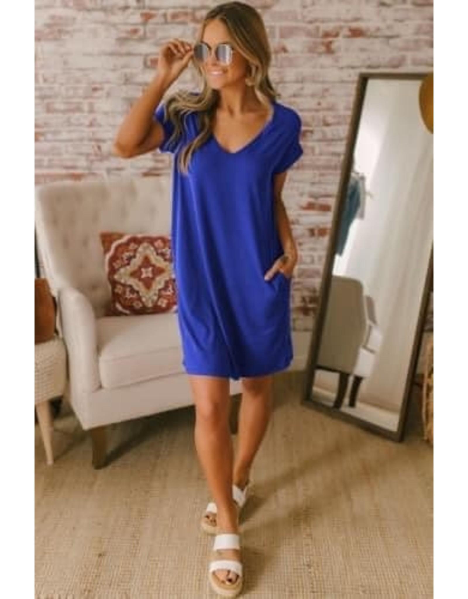 Ainsley Cuffed T-Shirt Dress